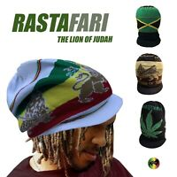 Rastafarian Hat Lion Of Judah Rasta Dreadlocks Jamaica Hat Cap Hats Cap L to XL