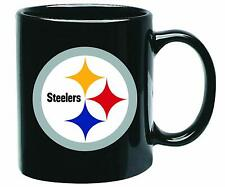 Pittsburgh Steelers 15oz Black Ceramic Coffee Mug