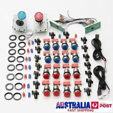 2 Player Arcade DIY Kit Game USB Controller Joystick LED Lighted Push Button AU