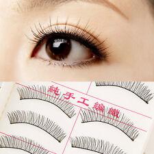 1set/10 Pairs Handmade Fake False Eyelash Lashes Natural Transparent Black AG