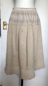 Vintage Early Old Handmade French Peasant Chore Under Skirt Petticoat Slip Rare