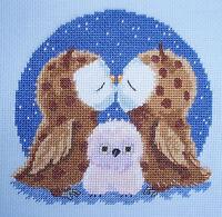 True Love! Owl Cross Stitch Kit by Genny Haines from Goldleaf Needlework