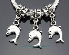 30pcs Tibetan Silver Dolphin Dangle Charms Fit Bracelet ZY238