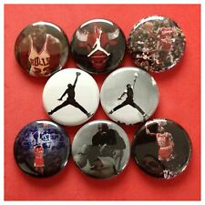 "MICHAEL JORDAN 1"" buttons badges CHICAGO BULLS PIPPEN"