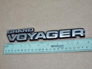 Original 1987-1988-1989-1990 Plymouth Grand Voyager Liftgate Emblem