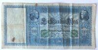 100 Mark 1910 Siegel GRÜN Reichsbanknote Kaiserreich - 20,7 cm lang