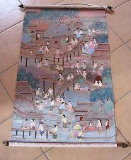 buddhistisches Rollbild,feinste Malerei auf Leinwand,ca.50 Jahre alt,s.Text!!*