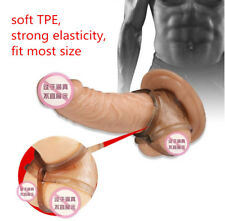 Men Male Scrotum Squeeze Ring Chastity Cage Soft Enhancing Devices Delay Ring