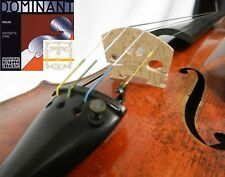 4/4 Size Thomastik Dominant Violin String set W/ Pirastro Gold Label E Ball End