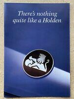 1993 Holden Range original Australian sales brochure