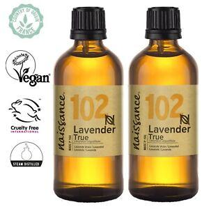 Naissance Lavender True Essential Oil Aromatherapy, DIY Massage Blends Skincare