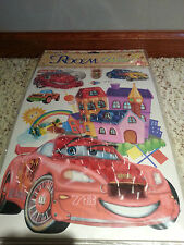 6 New 3 D WALL DECALS Stickers Boys car Room Decor free ship