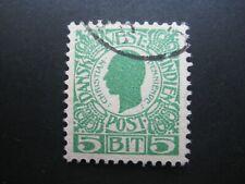 Deens west Indie 5 bit groen gebruikt