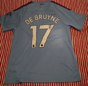 Manchester City signed shirt with authentic autograph from KEVIN DE BRUYNE