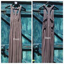 Womens Maxi Dress Size 8 ASOS grey Cut Out Design Vgc
