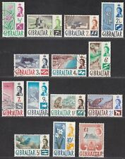 Gibraltar 1960 Queen Elizabeth II Set Used SG160-173 cat £60