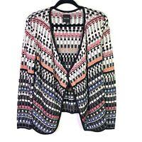 NIC+ZOE womens Size S Knit Cardigan Blazer Long Sleeve open front