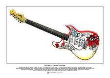Jimi Hendrix's Monterey Stratocaster Limited Edition Fine Art Print A3 size