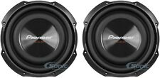 """2) Pioneer 1200W 10"""" TS Series Shallow Mount Single 4 ohm Car Audio Subwoofers"""