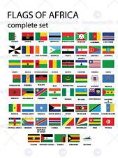 FLAGS AFRICA SET AFRICAN NATIONS PHOTO ART PRINT POSTER PICTURE BMP046B