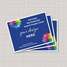 Postcards Flyers Business Insert Cards Handouts A2 - Full Color Printing
