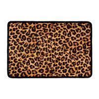 Fashion Leopard Room Doormat Area Floor Mat Carpet Non-slip Kitchen Rug Bathmat
