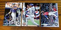 2020 Topps Update Ken Griffey JR base cards 9, 150 , and 190  - Mariners (3)
