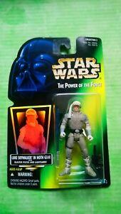 Star wars the power of the force luke skywalker in hoth gear (foil card )figure