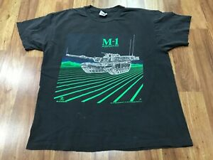 LARGE - Vtg 1988 Blackbird M-1 Abrams Battle Tank 80s Single Stitch T-shirt USA