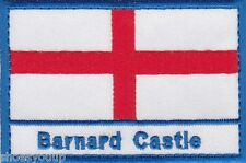Barnard Castle England Town & City St George Cross Embroidered Sew on Patch
