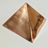 PLAIN Copper vastu Meditation Pyramid size  free shipping