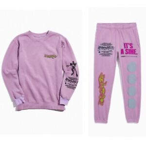 New Lady Gaga Lilac Sweatpants / Sweatshirt Set