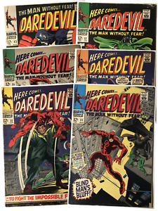 Daredevil #31, #32, #34, #35, #37, #43 *Lot of 6 Books* Silver Age Marvel Comics
