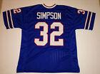 Внешний вид - UNSIGNED CUSTOM Sewn Stitched O.J. Simpson Blue Jersey - M, L, XL, 2XL, 3XL