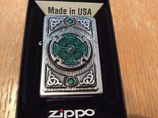 Zippo lighter Celtic Green Cross absolutely amazing & extremely rare.