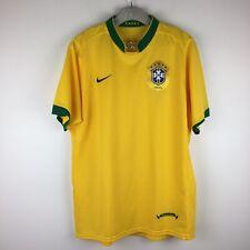 Brasil Soccer Jersey Nike Sphere Dry Brazil CBF Yellow Large Short Sleeve