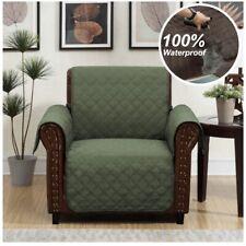 Home Queen Chair Recliner Slipcover Protector Waterproof Non Slip Green