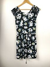 Band Of Gypsies Sleeveless Dress Cut Out Shoulder Black Pink Floral Size Medium