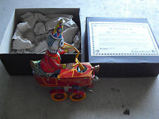 "Rare Tucher & Walther Happy Streetwalker Duck Cart Windup Toy in Box 9"" COA LE"