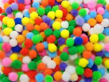 10mm Pompoms Mixed Colours Mini Pom Poms Card Making Arts And Crafts Kids