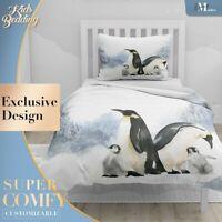 Penguin Nursery Animals Wild Animals White Duvet Cover Set Zipper Pillow Cover