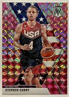 Stephen Curry 2019-20 Panini Mosaic USA Pink Prizm #260 INVEST HOT 🔥MVP