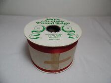 "Vintage 3""Wide Red 100% Acetate Ribbon 50 Yards"