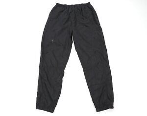 Vtg 90s Reebok Mens Large Stitched Spell Out Nylon Joggers Jogger Pants Black