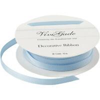 Light Blue Quality Reel Grosgrain Ribbon Roll 15 Metres Craft Wrap Christmas