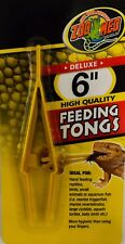 """Zoo Med High Quality Plastic Feeding Tongs 6"""" Birds Reptile Fish Small animals"""