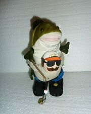 Gemmy Animated Fisherman with Fish Plush S-19