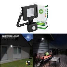 LE 10W Floodlight+Light sensor+Passive sensor,800lm,daylight white,waterproof,UK