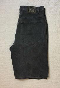 Vintage MARITHÉ FRANÇOIS GIRBAUD Gray Jean Shorts Button Fly Men Size 36