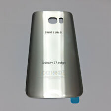 Silver Back Glass Housing Cover Battery Door For Samsung Galaxy S7 Edge + Tape
